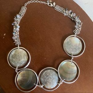 Chico's Large Abalone Statement Necklace